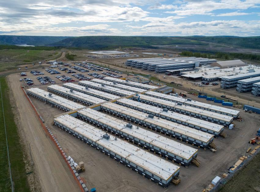 The Site C worker accommodation lodge expansion added 450 new beds. (May 2020)