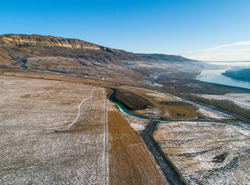 The eastern end of the Cache Creek segment of Highway 29 will be replaced with a new two-lane, 4.6 km highway, including a 600-metre-long bridge. (December 2019)