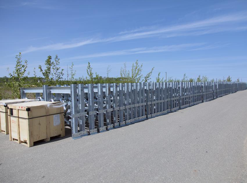 Conveyor belt components delivered to the 85th Ave. Industrial Lands (May 2018)