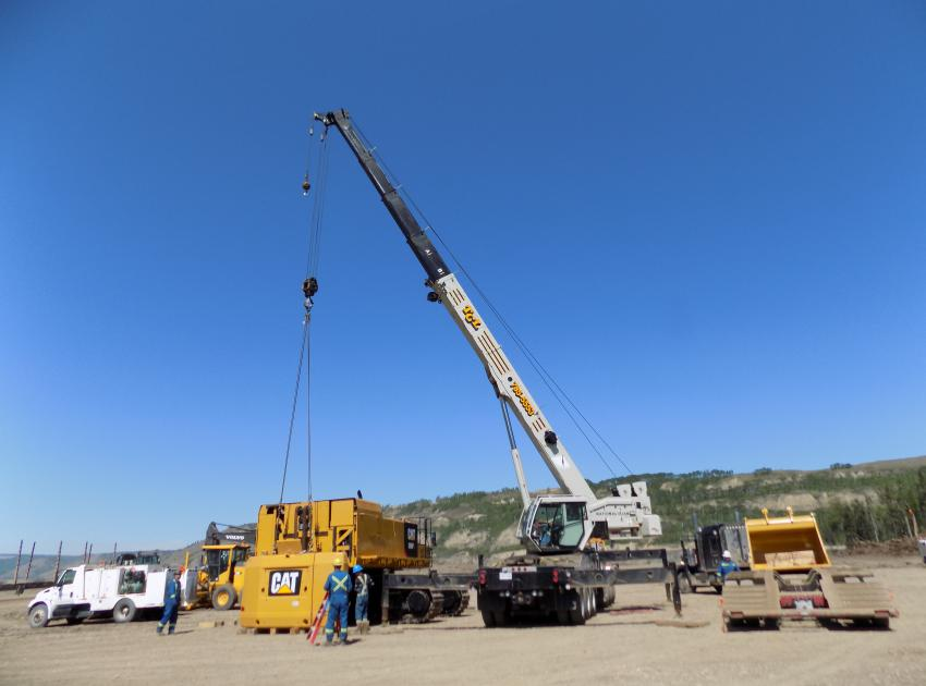 Peace River Hydro Partners continue to mobilize equipment to the dam site area. (May 2016)