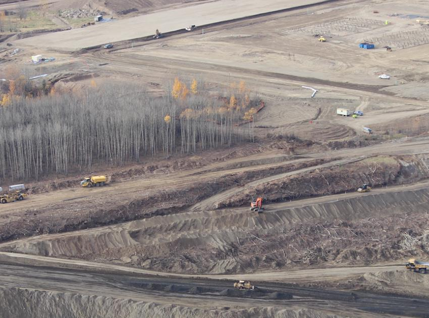 Excavation aerial view