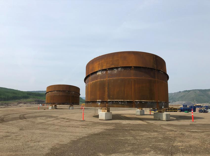 We will be building and assembling 84 of these penstock sections over the next few years, to create the six penstock pipes for Site C's generating station. (May 2019)