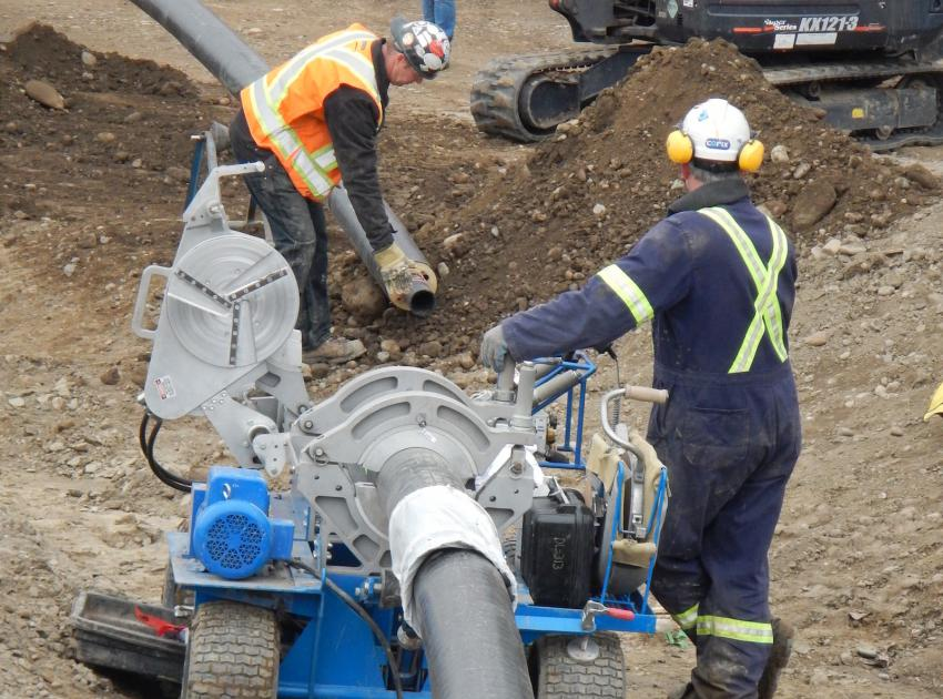 Work on potable water pipe. (April 2016)